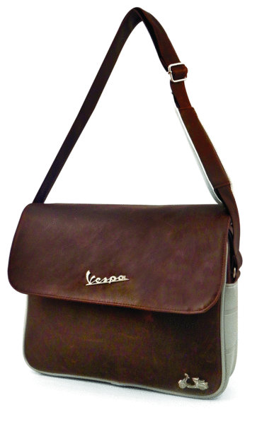 vespa tasche schultertasche simil pelle braun vespa shop vespa onlineshop f r vespa. Black Bedroom Furniture Sets. Home Design Ideas